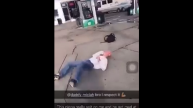 Anyone Can Get It: Dude Spits On The Wrong Gang Member And Takes A Violent KO From Behind!