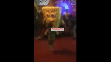 SpongeBob Gets Jumped During A Kid's Birthday Party