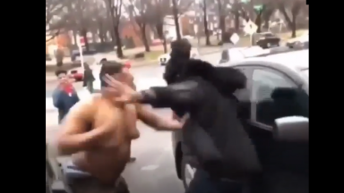 Damn: Big Dude Gets Knocked Out From A Crazy Back Handed Punch!