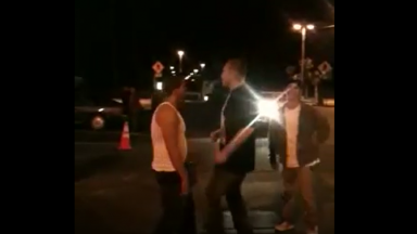 Just Like That: Dude Gets Put Down With A Head Butt!