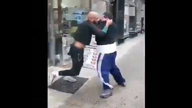 Big Boy Got Knocked Out For Talking Too Much Sh*t!