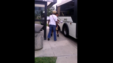 Dude Knocks A Woman Out Cold On The Concrete For Harassing Him!