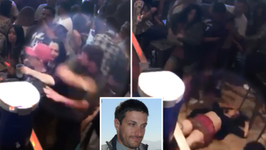 Dude Elbows Woman In The Face Then Starts Punching Her Boyfriend!