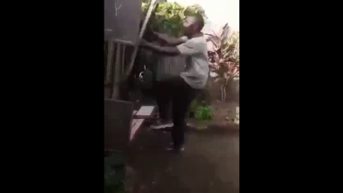 Dude Saw His Girlfriend Go Inside Another Man's Shack And Went Hulk Mode!