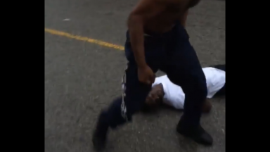 Dude Gets Knocked TF Out And Left Snoring In The Street!