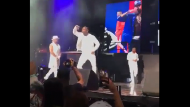 Rapper O.T. Genasis Hit The Crip Walk In Tribute To Nipsey Hussle While On Stage!