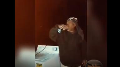 Thought It Really Gave Him Wings: Dude Takes One Last Sip Then Jumps Off The Porch!