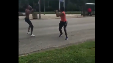 Two Girls Scrappin In The Street Causes A Car Accident!