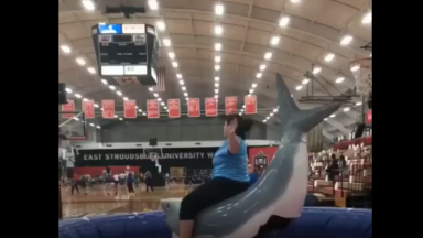 All Bad: Big Girl Rides A Mechanical Shark And It Just Can't Handle The Weight!
