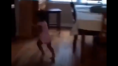 She Was Out: Little Girl Avoided That Whooping By Any Means Necessary!