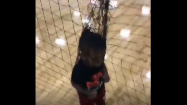 Little Man Finds Himself In A Tangled Up Situation!