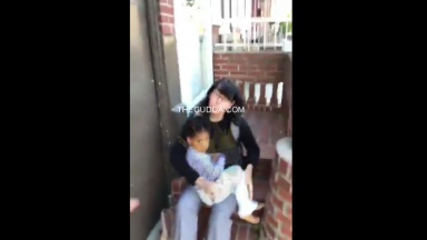Philly Dude Goes Off On A Woman For Having A Child Outside In 44 Degree Weather Without A Jacket!