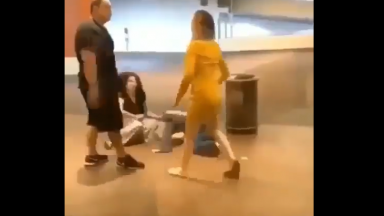 Daaamn: Dude Knocks A Woman Out Cold!