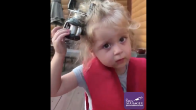 Omg: Little Girl Gets A Fishing Reel Stuck In Her Hair!