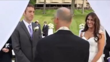 ripsave - Reverend makes the wedding about himself.
