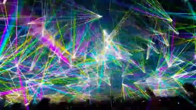 world record for number of lasers at a show was broken last year, it's pretty wild