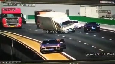 moron_in_china_leaves_his_car_jack_on_the_road_which_causes_a_massive_accident_