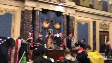 this_video_was_released_today_by_the_new_yorker_magazine__rioters_pray_to_jesus_christ_at_the_podium_in_the_capitol_building_in_washington__d_c_