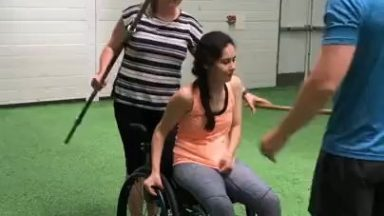 5 years on from her injury that left her quadriplegic, her ability to walk has made exponential progress. Better never stops!