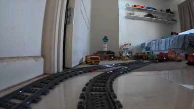 Awesome Lego Train Set in the Garden and House