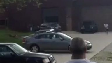 Flipping in front of parked cars